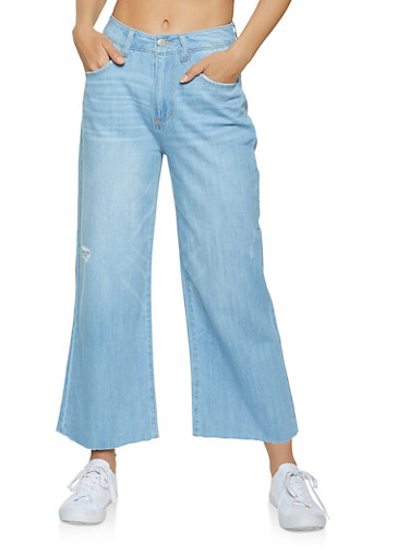 WAX 4 Button High Waisted Skinny Jeans,LIGHT WASH,large