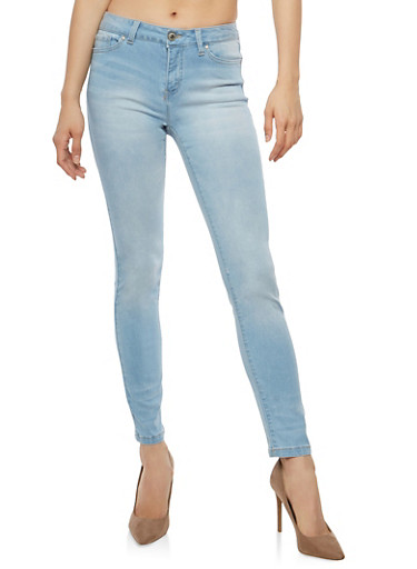 WAX Whisker Wash Basic Skinny Jeans,LIGHT WASH,large