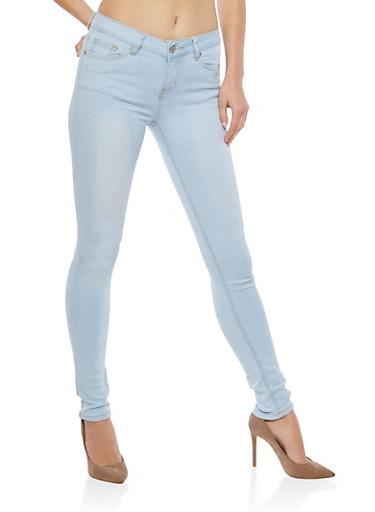 WAX Basic Skinny Jeans,LIGHT WASH,large