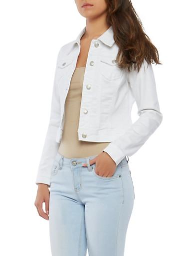 WAX Denim Jacket,WHITE,large