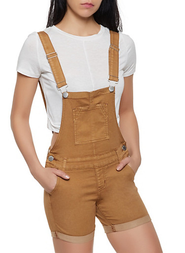 VIP Bib Shortalls | Brown,BROWN,large