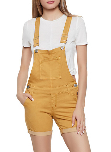 VIP Fixed Cuff Shortalls,MUSTARD,large