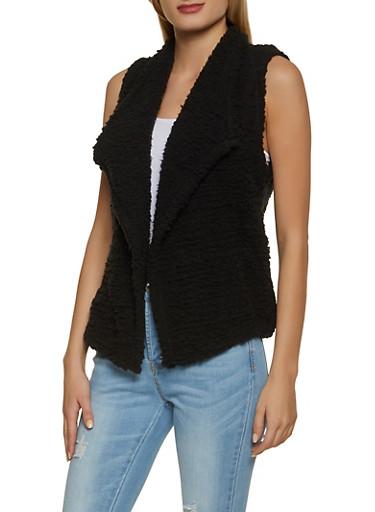 Sherpa Vest,BLACK,large