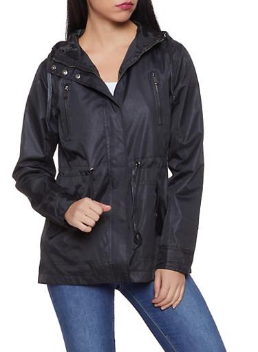 Lightweight Anorak Jacket,BLACK,large