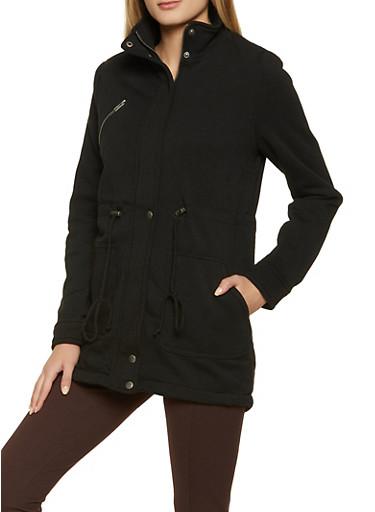Zip Pocket Anorak Jacket,BLACK,large