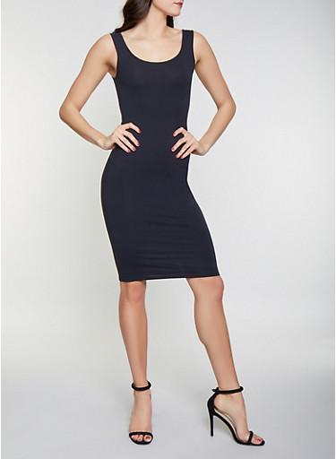 Midi Tank Dress,BLACK,large