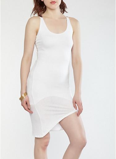 Rib Knit Double Strap Tank Dress | Tuggl