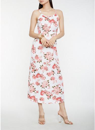 Floral Tank Maxi Dress | Tuggl