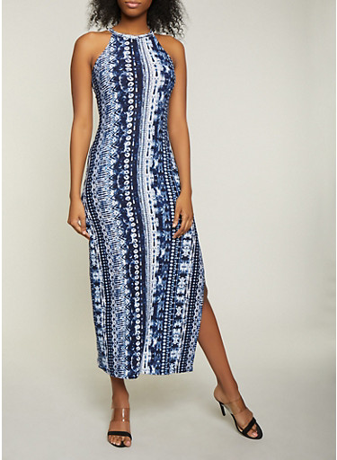 Tie Dye Tank Maxi Dress | 1094038349925,NAVY,large