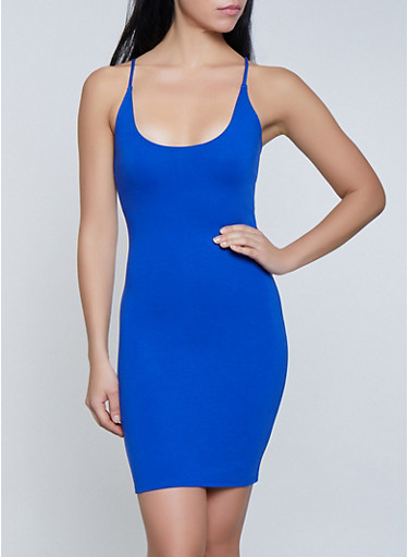Solid Ponte Knit Bodycon Dress,RYL BLUE,large