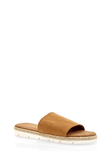Slides with Rope Sole Detail,NATURAL F/S,large
