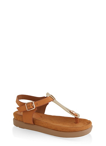 461a0545f Cut Out Thong Footbed Sandals - Rainbow