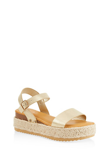 Single Band Platform Espadrille Sandals by Rainbow