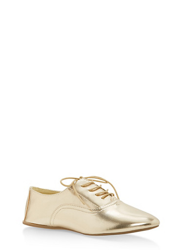 Lace Up Pointed Toe Oxfords | Tuggl
