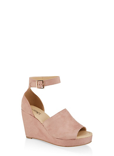 Ankle Strap Wedge Sandals | 1110074967575,MAUVE,large