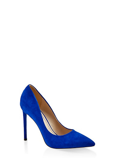 Pointed Toe High Heel Pumps,ELECTRIC BLUE,large