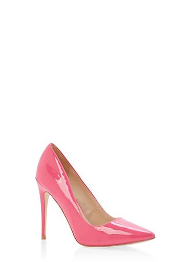 Pointed Toe Stilettos - FUCHSIA PATENT - 1111004064424