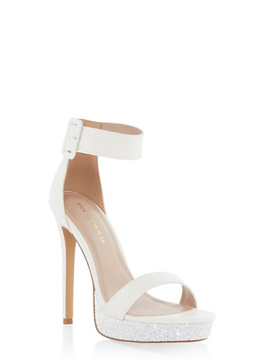 Buckled Ankle Strap High Heel Sandals at Rainbow Shops in Columbia, TN | Tuggl