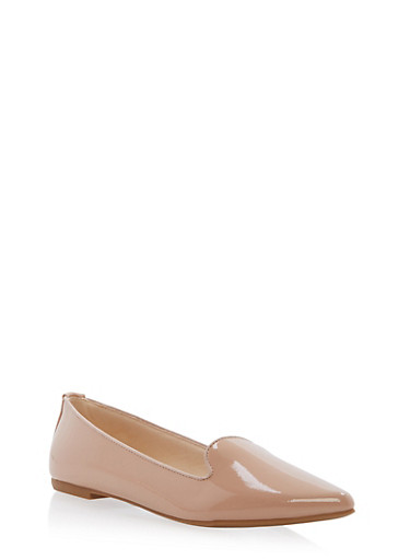 Pointed Toe Flats,NUDE PATENT,large