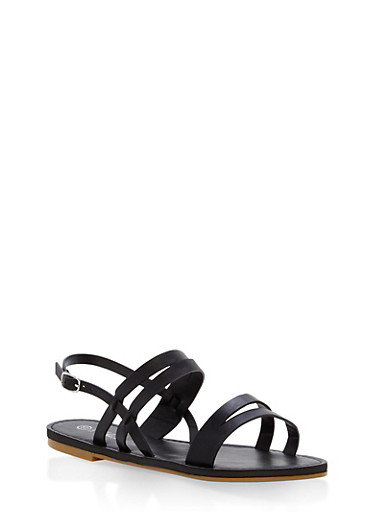 Strappy Sandals,BLACK,large
