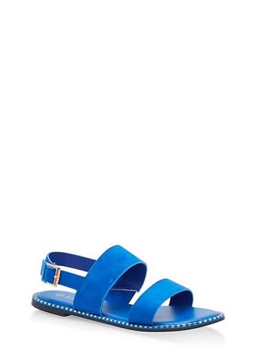 Studded Sole Double Strap Sandals | Tuggl