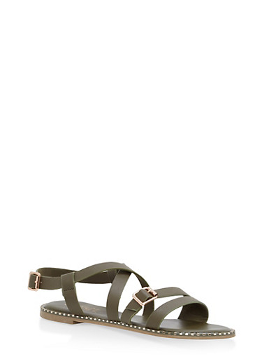 Criss Cross Ankle Strap Sandals | Tuggl