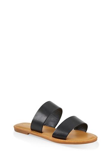 Two Band Slide Sandals | 1112004069290,BLACK,large