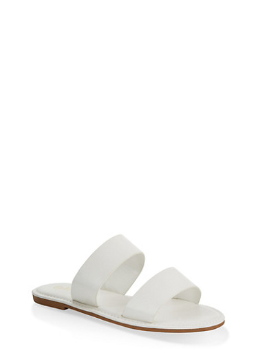 Two Band Slide Sandals | 1112004069291,WHITE,large