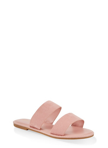 Two Band Slide Sandals | 1112004069291,BLUSH,large