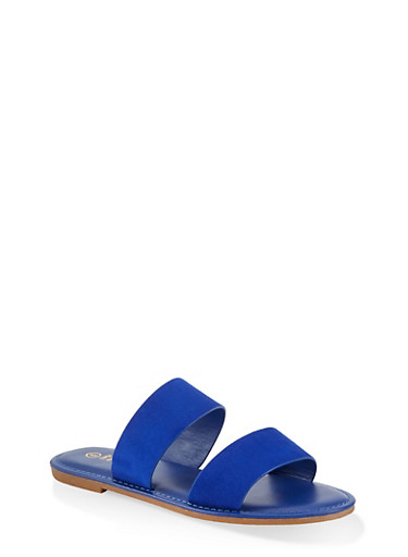 Two Band Slide Sandals | 1112004069291,ELECTRIC BLUE,large