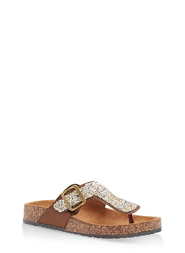 Thong Footbed Sandals | Tuggl