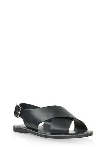Criss Cross Sandals,BLACK,large