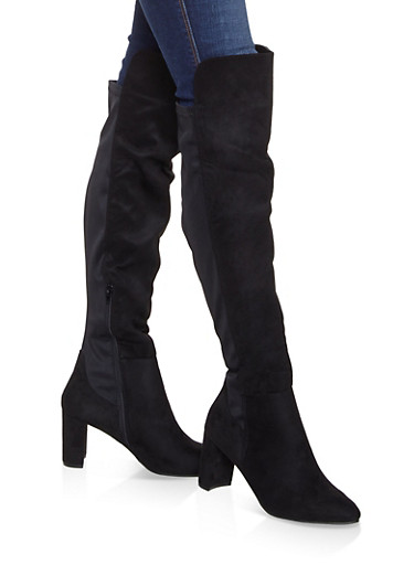 Block Heel Stretch Boots by Rainbow