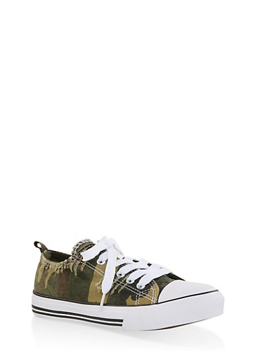 Camo Canvas Sneakers,CAMOUFLAGE,large