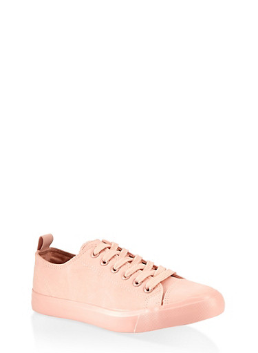 Lace Up Low Top Sneakers,BLUSH,large