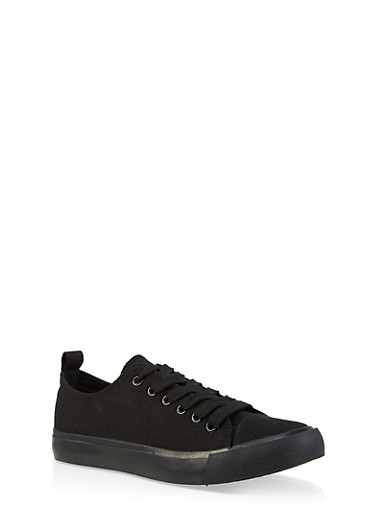 Lace Up Tennis Sneakers | 1114062720303,BLACK,large