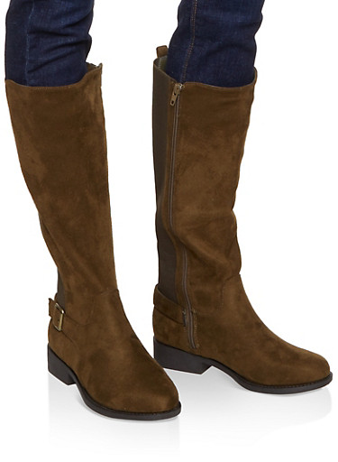 Gore Tall Riding Boots,OLIVE,large