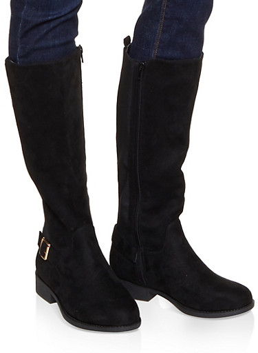 Gore Tall Riding Boots,BLACK SUEDE,large