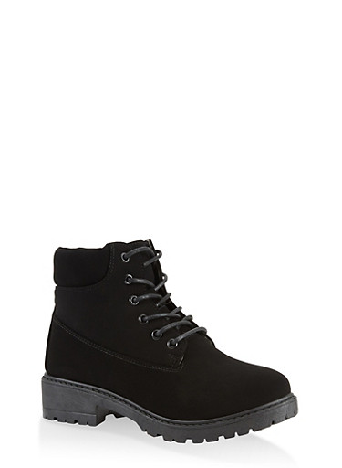 Lace Up Work Boots | 1116073541032,BLACK,large