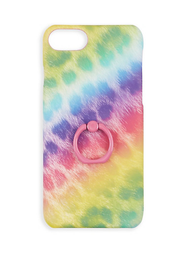 Leopard Ring Stand iPhone Case,MULTI COLOR,large