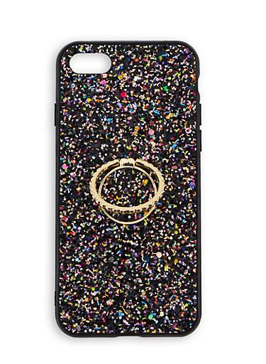 Glitter iPhone Case,BLACK,large