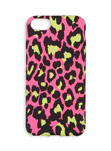 Neon Leopard iPhone Case,MULTI COLOR,large