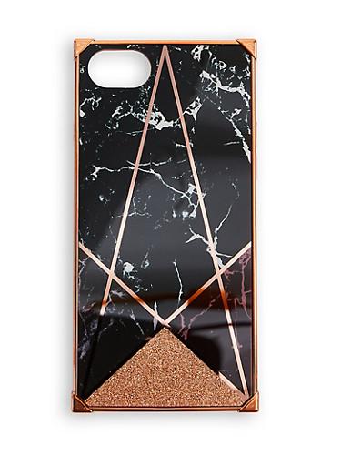Geometric iPhone Case,BLACK,large