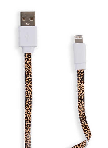 Leopard USB Lightning Cable,BROWN,large