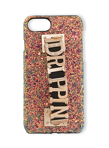 Drippin Graphic Handle Phone Case,BLACK,large