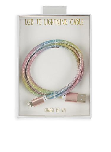 Glitter Micro USB Cable,MULTI COLOR,large