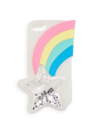 Rainbow Silicone iPhone Case,WHITE,large