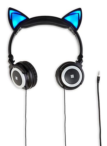 Light Up Cat Ear Headphones |1120066840040,BLUE,large