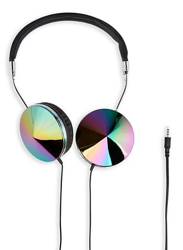 Iridescent Shimmer Headphones | 1120066841111,BLACK,large