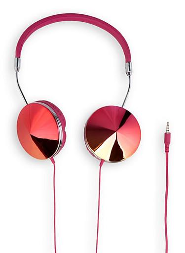 Iridescent Shimmer Headphones | 1120066845555,PINK,large